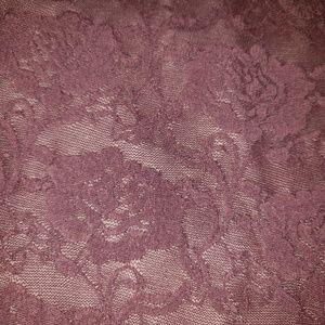Skirts - A-line purple flower print skirt